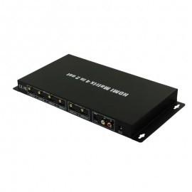 VAC110 HDMI 4x2 Matrix w/IR Remote Control Extension & Audio Out, 3D